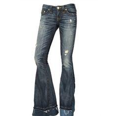 True Religion Patchwork Stretch Denim Carrie Jeans