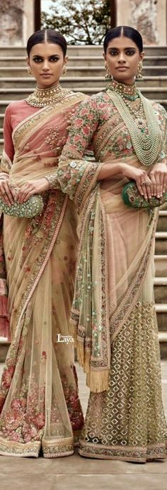 Sabyasachi Summer Campaign 2016 See through net sari with floral blouse Pakistani Dresses, Indian Sarees, Indian Dresses, Indian Outfits, Sabhyasachi Sarees, Sabyasachi Collection, Indian Attire, Indian Wear, Indian Couture