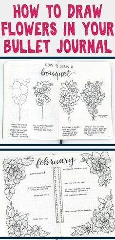 Absolutely stunning step-by-step flower doodles to decorate your bullet journal! These floral doodles are beyond easy and are mesmerizing to look at. Learn how to draw amazing flowers and create the most gorgeous bullet journal monthly spreads, weekly layouts, and habit trackers. #bulletjournal #bulletjournalideas #howtodraw #flowerdoodles