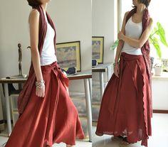 Epiphyllum  Maxi Skirt Q5103 от idea2lifestyle на Etsy
