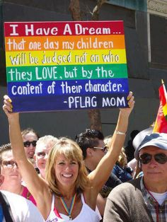 PFLAG (parents, families friends of lesbians and gays)