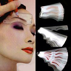 Deluxe Hairstroke Eyebrow Stencils (60pcs)