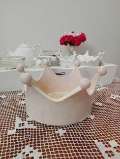 pink krown ,korona ceramiczna decor