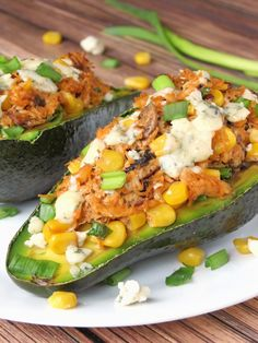 Chicken Stuffed Avocado Recipe | YummyAddiction.com