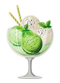 Transparent Mint Ice Cream Sundae Picture: