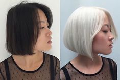 The Chemistry of Color | Strong and healthy platinum transformation by @hairbyluu with #Olaplex and Eugene Perma.  Transformations like this take hours of work and time. This one took two sessions both at 1.5 hrs each using 10 vol, then 30 vol. ❤️ Insure the integrity of your clients hair by adding Olaplex No.1 to your formulations. This will help mitigate damage done during the color process. Then, finish a generous No.2 treatment to further rebuild bonds, without any chemicals working agai