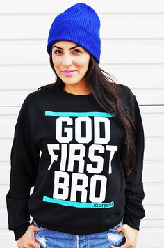 $24.99 GODFIRSTSWEATER by JCLU Forever Christian t-shirts