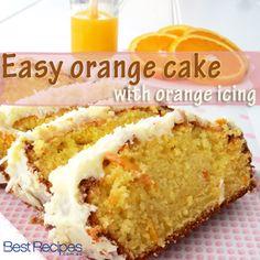 Easy Orange Cake with Orange Icing Recipe . A light, all-in-one orange cake.Orange Cake Recipe by Sunita Kohli . Orange Cake Recipe, Learn how to make Orange Food Cakes, Tea Cakes, Cupcake Cakes, Cupcakes, Baking Recipes, Cake Recipes, Baking Desserts, Pastry Recipes, Icing Ingredients