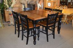 Gathering Table w/ butterfly leaf and 6 chairs