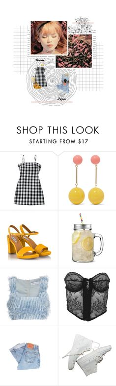 """""""○ s u g a r ( f e a t. p a y n e )  / m v  o u t f i t s ○"""" by connie677 ❤ liked on Polyvore featuring J.W. Anderson, Fratelli Karida, Alice McCall, Versace and Levi's"""