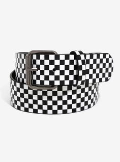 CHECK. It. Out. // Black & White Checkered Belt