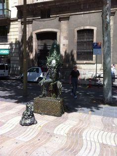 Levende standbeelden, La Rambla Barcelona