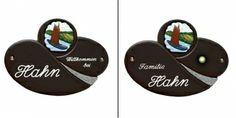 Das Türschild-Namensschild Keramik braun Torfkahn 5279 überzeugt durch seine außergewöhnliche Form und seinem schönen Motiv. In den Abmessungen 26x19cm verschönert es jedes Haus an das es angebracht wird.Auf Wunsch kann das Türschild mit einem Klingelknopf aus Messing geliefert werden,welcher dann schon vormontiert ist. Messing, Form, Name Labels, Wish, Get Tan, House, Nice Asses