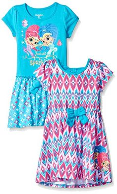 6e32886dbe491 online shopping for Nickelodeon Little Girls' Shimmer Shine 2 Pack Dress  from top store. See new offer for Nickelodeon Little Girls' Shimmer Shine 2  Pack ...