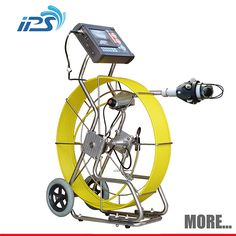 Sewer camera for DN 60-400 1.Robust stainless steel frame 2.Reinforced cable 3.Pan/tilt camera head 4.With meter-counter