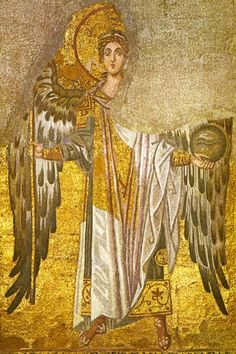 Archangel Michael 9th century, from the Hagia Sophia, Istanbul - Turkey