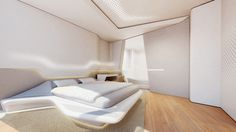 zaha hadid dubai opus office tower designboom a distinctively shaped bed forms the center of the design's sleeping quarters