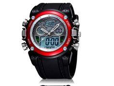 Military Wristwatch S-SHOCK Fashion Wrist Watch Dual time Digital Analog