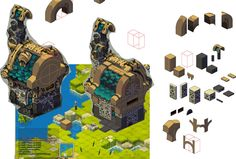 Haven-World Mmo Wakfu: little stone house //WIP by Sevpoolay.deviantart.com on @deviantART