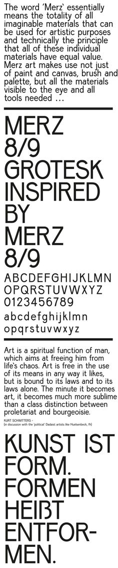 Merz 8—9 grotesk by Joshua Olsthoorn / Graphic, via Behance ※