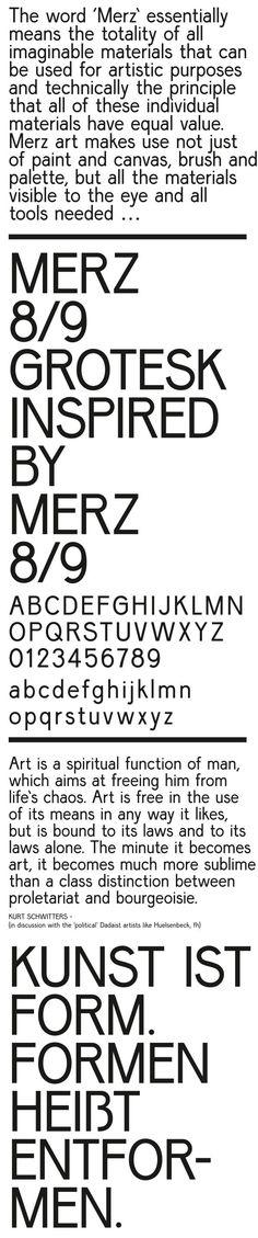 Merz 8—9 grotesk by Joshua Olsthoorn / Graphic, via Behance ※
