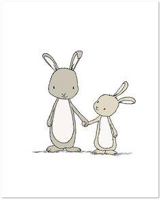 Bunny Nursery Art-Take My Hand Little Bunny – Woodland Nursery – Nursery Art Print – Children Art Print – Kids Wall Art - Hase Baby Wall Art, Art Wall Kids, Art For Kids, Obelix, Art Mignon, Bunny Nursery, Nursery Artwork, Kindergarten Art, Vegas Strip