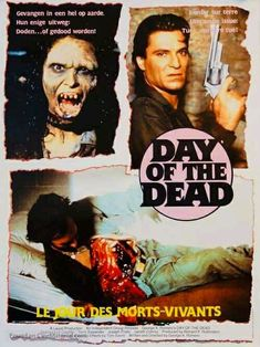Zombie Movies, Horror Movies, George Romero, Day Of The Dead, Zombies, Movie Posters, Day Of Dead, Horror Films, Film Poster
