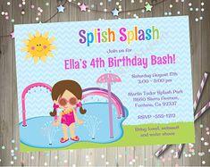 Splash pad birthday party invitation invite splish splash bash print your own invitations and party printables by jcbabycakes stopboris Image collections