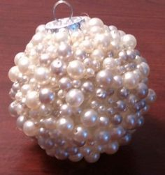 Make these with hot glue, beads, and clear ornaments!~~