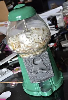 Going to have to look for an old gum ball machine to store my old buttons!