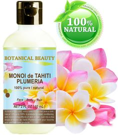 Botanical Beauty Monoi de Tahiti Oil Plumeria is an extraordinary oil for face, body, hair, lip and nail care with Tahitian Plumeria flowers infusion. Coconut Oil Uses, Coconut Oil For Skin, Brittle Nails, Oily Skin Care, Soft Hair, Facial Oil, Natural Face, Oils For Skin