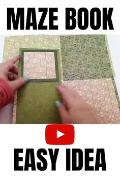 How to make a unique fold card that can also be a mini album - find out how to make a maze mini album in this easy to follow video tutorial Diy Mini Album Scrapbook, How To Make Scrapbook, Photo Album Scrapbooking, Scrapbook Page Layouts, Halloween Mini Albums, Christmas Mini Albums, Maze Book, Bookbinding Tutorial, Mini Album Tutorial