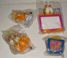 Lot of 4 New GARFIELD fast food WENDY'S toys MIP - $4.99 : Zen ...