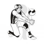 Standardmotiv Volleyballspieler Baggern http://www.helm-pokale.de/volleyball-c-3369-5.html