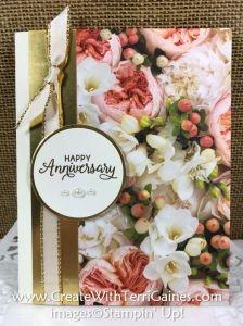 Petal Promenade Designer Series Paper & Beautiful Bouquet Stamp Set - Create With Terri Gaines Happy Anniversary Cards, Happy Birthday Cards, Happy Birthdays, Birthday Greetings, Birthday Wishes, Sister Birthday, Anniversary Ideas, Flower Cards, Paper Flowers