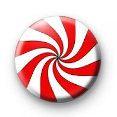 Candy Swirl badges  Christmas xmas Button Badges
