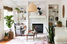 FAMILY ROOM REVEAL by PLACE OF MY TASTE with Rugs USA's Chroma Vivid Medallion AS19B Rug!