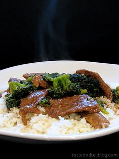 Beef and Broccoli   Taste and Tell  Really good! Added snow peas and water chestnuts