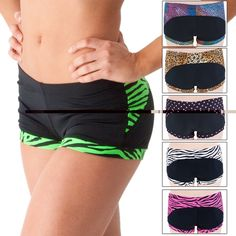 Exciting and new Gia-Mia Dancewear competition dance shorts have a contrasting leg cuff and flattering back panel. Dance Outfits, Sport Outfits, Dance Gear, Pole Dance, Dance Shorts, Comfy Shorts, Leg Cuffs, Workout Attire, Dance Class