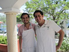 Roberto and Antonio - our guides in Cancun. Corporate Social Responsibility, Cancun, Chef Jackets, Mexico