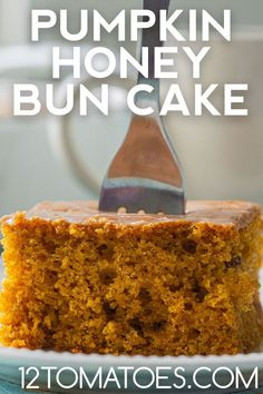 The perfect fall cake is here! Honey Bun Cake, Honey Buns, Ritz Cracker Chicken Casserole, 12 Tomatoes Recipes, Cake Portions, Fall Cakes, Chicken Parmesan Recipes, Ritz Crackers, Eat To Live