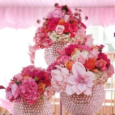 Love this look for a #wedding reception. Image via I Heart Much Shabby Chic.