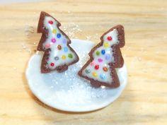 Christmas Tree Earrings Christmas cookie by ImaginaryHandicraft