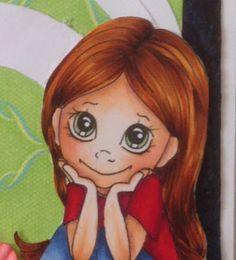 Copic Marker Europe: Hello Friend.   Hair: YR27, E35, E37, E39, E29 Body: E000, E00, E21, E11, E04, R20 Eyes: YG61 Shirt: R24, R27, R29, R59 Pants: B91, B93, B95, B97 Shoes: YG93, YG97, N0, N1, N3, N4