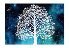 Family Tree Papercut  Family Wall Decal  by LagoDosSonhos on Etsy