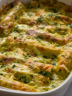 Poblano Sour Cream Enchiladas - - Utterly creamy with a mild heat. Mexican Cooking, Mexican Food Recipes, Sour Cream Enchiladas, Chicken Enchiladas, Enchilada Recipes, Poblano Recipes, Stuffed Poblano Peppers, Mexican Dishes, Fajitas