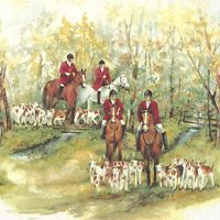 HUNTING SEASON Fox Hunting paper lunch napkins new 20 in pack 33 cm sq