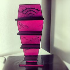 Coffin shaped shelves  for Monster high doll house.@Tracy Stewart Stewart van Rensburg, how cute (and do-able) is this?