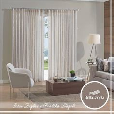 Para quem adora cortinas com deslizantes!