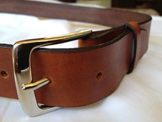 Belt Leather Classic design - Handmade in the USA | HeirloomLeather - Accessories on ArtFire
